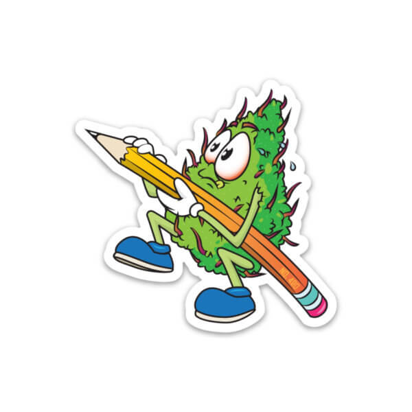 Scribble Weed Nug Sticker